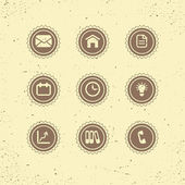 Set of retro icons: business theme
