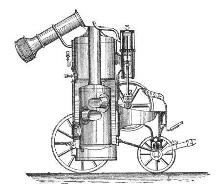 """Photo pour RUSSIE - CIRCA 1897 : gravure de machines agricoles tirées d'un tirage original de """"Machines agricoles. Atlas """", créateur K.K.Veber . - image libre de droit"""