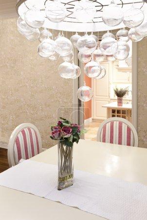 Photo pour Vue intérieure d'une salle à manger moderne - image libre de droit