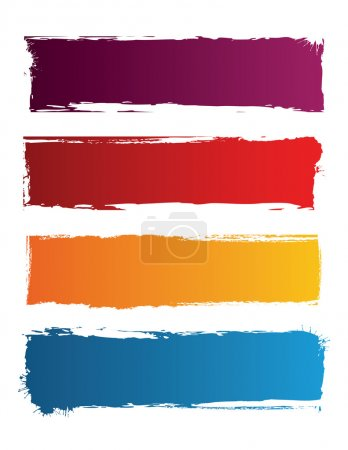 Illustration for Grunge colored banners with space for text - Royalty Free Image