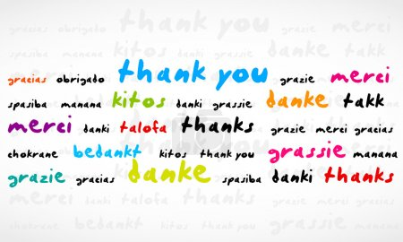 Illustration for Thank You Word Cloud abstract vector background, eps 10 - Royalty Free Image