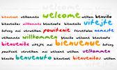 Welcome Bienvenue Willkommen Word Cloud