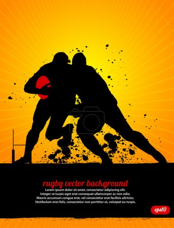 Rugby Vector Background