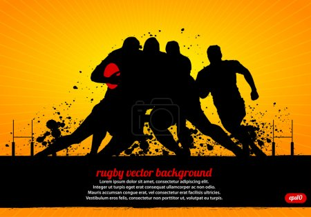 Rugby Poster Vector background, eps10...