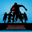 Rugby Poster abstract vector background, eps10