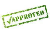 Grunge Approved stamp