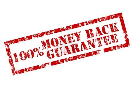 Illustration for Money back stamp 100% vector background - Royalty Free Image