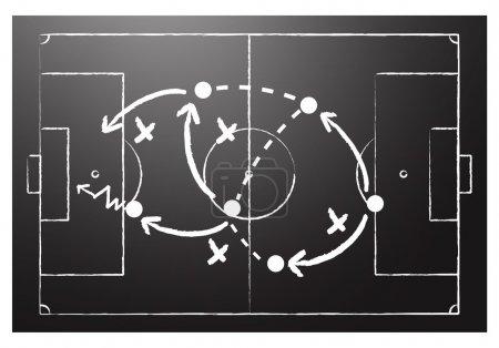 Soccer formation tactics