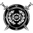 Vector image of shield and crossed swords...