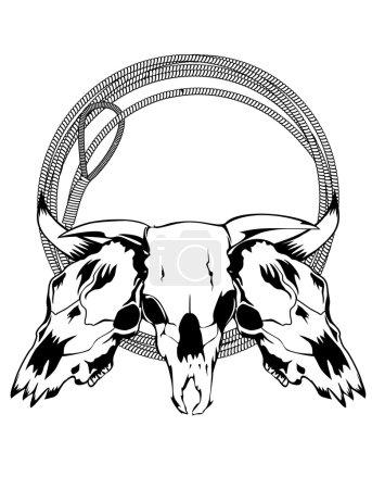 Skulls bulls and lasso