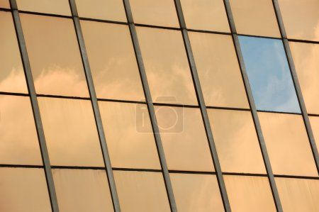 Glass facade panel background