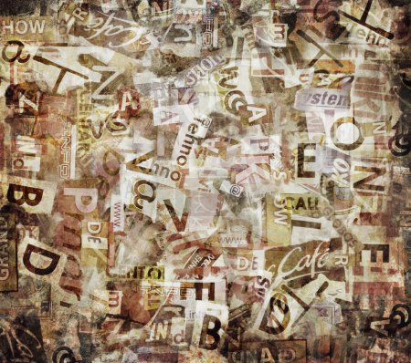 Photo for Grunge textured background with old torn newspapers - Royalty Free Image