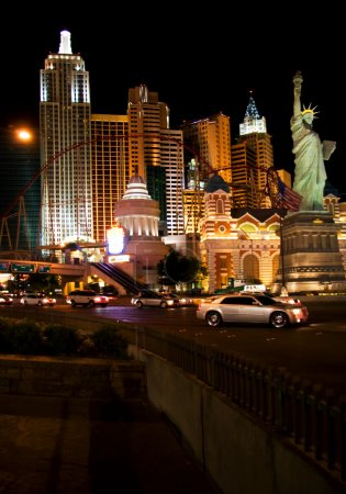 Photo for LAS VEGAS - MAY 1: Traffic moves past the New York, New York Hotel & Casino on May 1, 2007 in Las Vegas. - Royalty Free Image