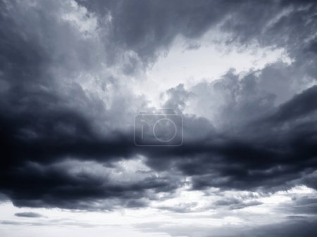 Photo for Rain clouds and gloomy sky in black and white - Royalty Free Image