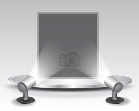 Illustration for 3d podium with light, illustration - Royalty Free Image