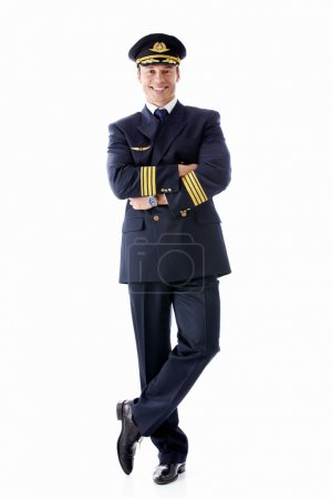A man dressed as a pilot