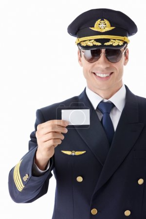 Aviator sunglasses with a business card