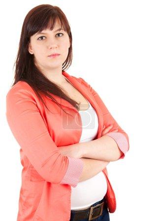 Overweight businesswoman