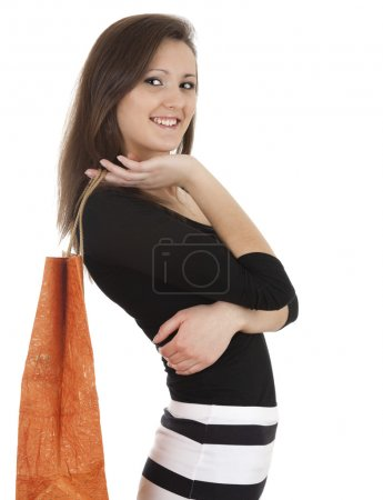 Shopping young woman