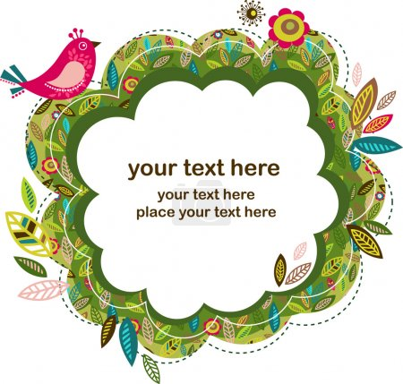 Illustration pour Carte de vœux de Pâques avec oiseau, illustration vectorielle - image libre de droit