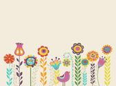 """Постер, картина, фотообои """"поздравительная открытка с цветами"""""""