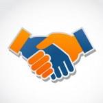 Handshake icon and symbol, vector...