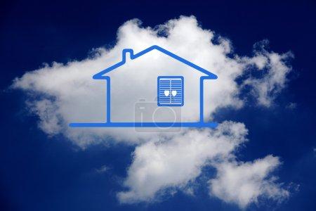 Photo pour Rêver de petite maison de campagne familiale, idée et concept - image libre de droit