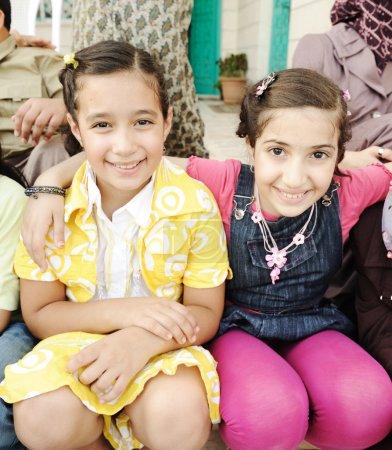 Photo pour Groupe d'enfants heureux - image libre de droit