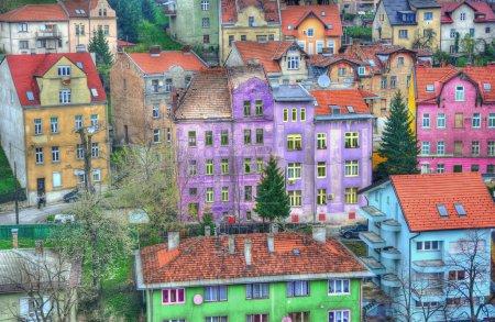 Colorful buildings city