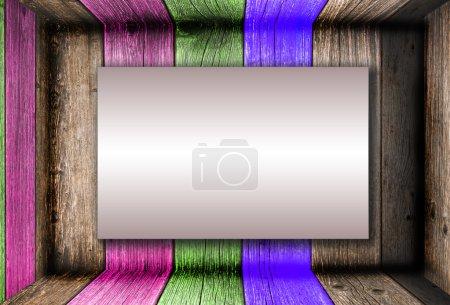 kreativer Holzraum. mit Kopierraum für Text oder Bild