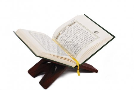 Holy islamic book Koran opened and isolated