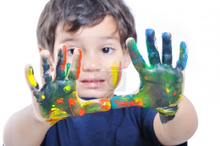 Photo for Messy happy child - Royalty Free Image