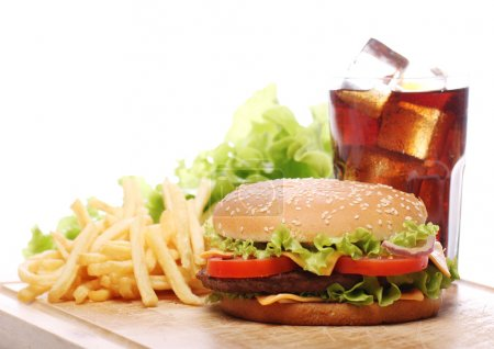 Fast food on the table