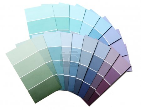 Photo for Close up of pantone color palette and roller - Royalty Free Image