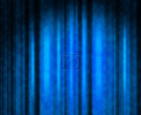 Photo pour Rideau de théâtre bleu avec un éclairage doux - image libre de droit