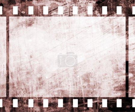 Photo pour Bande de film ancien avec quelques taches - image libre de droit