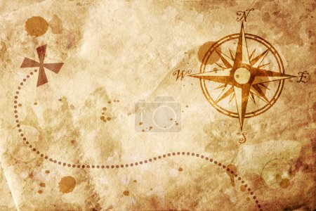 Old map with a compass on it...