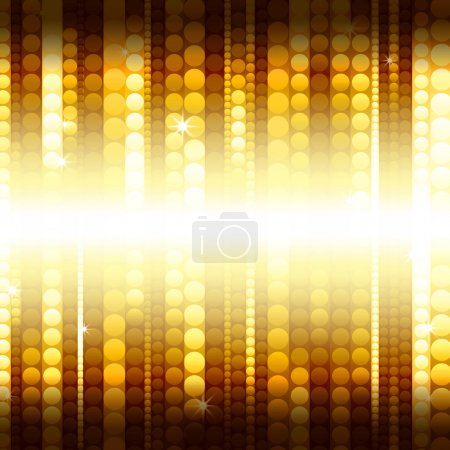 Strips of shiny golden circles
