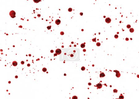 Photo for Spots and splashes of blood on a white background - Royalty Free Image