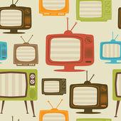 Tv retro seamless pattern Vector illustration