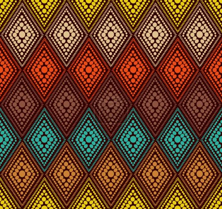 Abstract color dot geometric pattern