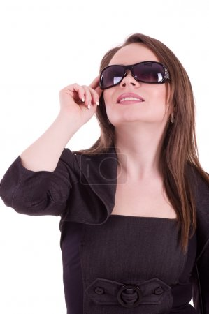Young Businesswoman with glasses isolated