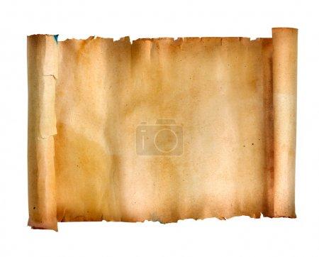 Photo pour Rouleau de manuscrit isolé sur blanc - image libre de droit