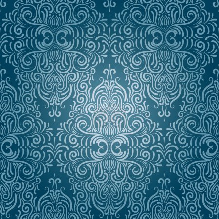 Illustration for Vector seamless vintage wallpaper - Royalty Free Image