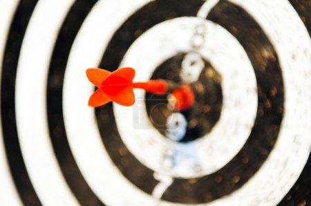 Dart target business concept