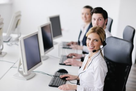 Business group working in customer and help desk office