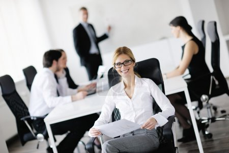 Business in a meeting at office