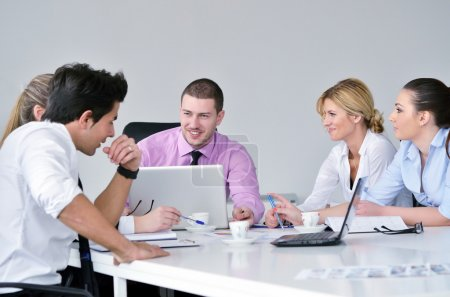 Group of young business at meeting