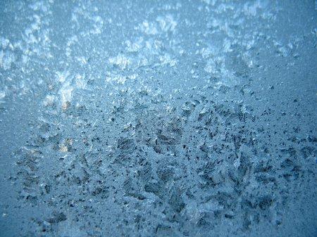 Foto de Este es el patrón helado en la ventana de cristal invierno - Imagen libre de derechos