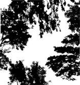 trees silhouette background